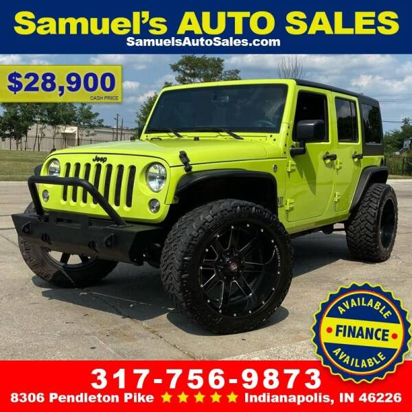 2017 Jeep Wrangler Unlimited for sale at Samuel's Auto Sales in Indianapolis IN