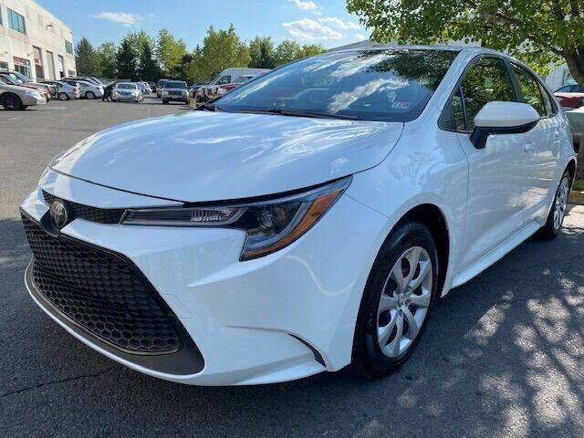 2020 Toyota Corolla for sale at Pleasant Auto Group in Chantilly VA