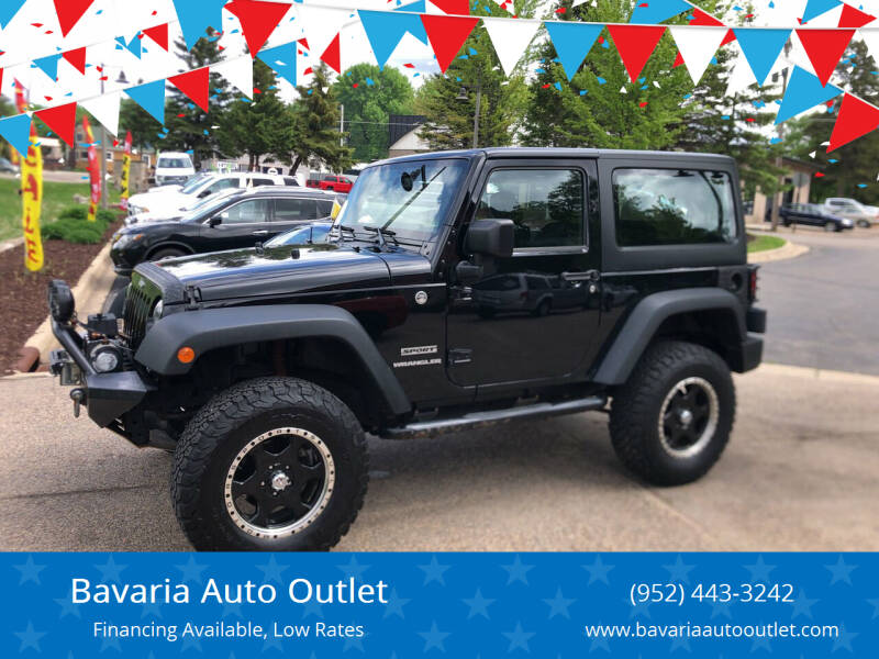 2015 Jeep Wrangler for sale at Bavaria Auto Outlet in Victoria MN