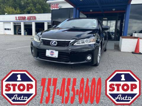 2012 Lexus CT 200h for sale at 1 Stop Auto in Norfolk VA