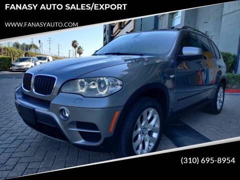 2012 BMW X5 for sale at FANASY AUTO SALES/EXPORT in Yorba Linda CA