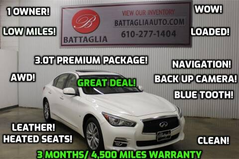 2017 Infiniti Q50 for sale at Battaglia Auto Sales in Plymouth Meeting PA