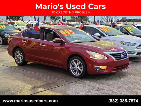 2015 Nissan Altima for sale at Mario's Used Cars in Houston TX