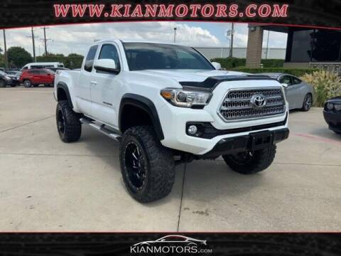 2016 Toyota Tacoma for sale at KIAN MOTORS INC in Plano TX