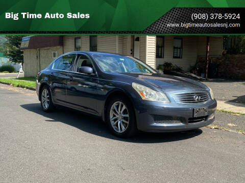 2008 Infiniti G35 for sale at Big Time Auto Sales in Vauxhall NJ