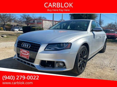 2012 Audi A4 for sale at CARBLOK in Lewisville TX