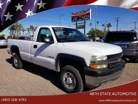 2002 Chevrolet Silverado 2500HD for sale at 48TH STATE AUTOMOTIVE in Mesa AZ