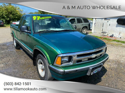 1997 Chevrolet S-10 for sale at A & M Auto Wholesale in Tillamook OR