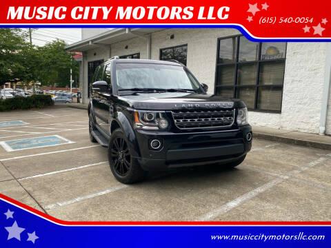 2016 Land Rover LR4 for sale at MUSIC CITY MOTORS LLC in Nashville TN