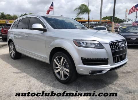 2015 Audi Q7 for sale at AUTO CLUB OF MIAMI in Miami FL