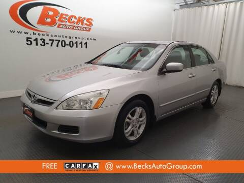 2007 Honda Accord for sale at Becks Auto Group in Mason OH