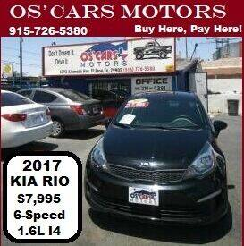 2017 Kia Rio for sale at Os'Cars Motors in El Paso TX
