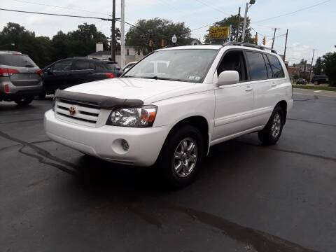 2005 Toyota Highlander for sale at Sarchione INC in Alliance OH