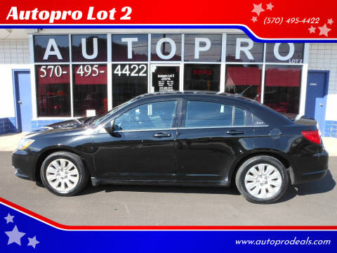 2012 Chrysler 200 for sale at Autopro Lot 2 in Sunbury PA