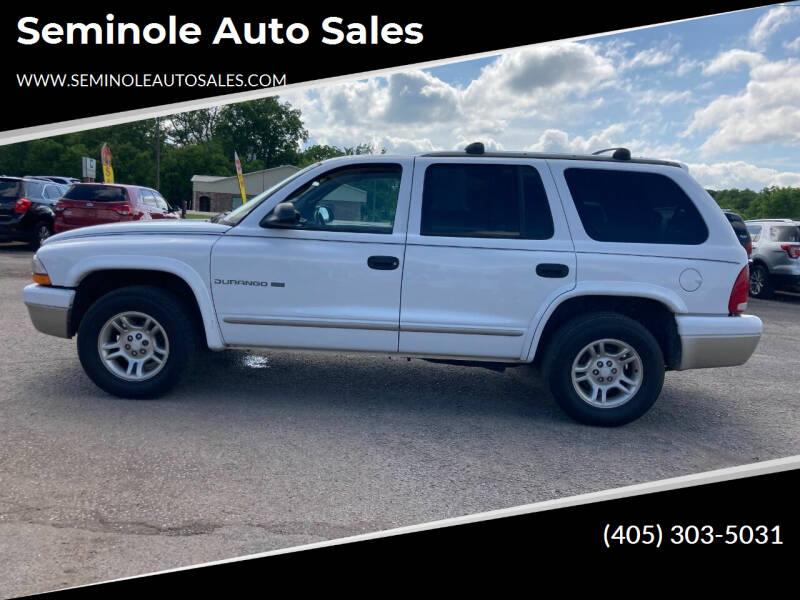 2001 Dodge Durango for sale at Seminole Auto Sales in Seminole OK