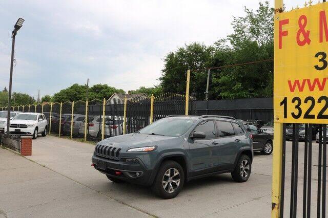 2014 Jeep Cherokee for sale at F & M AUTO SALES in Detroit MI