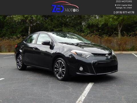 2014 Toyota Corolla for sale at Zed Motors in Raleigh NC