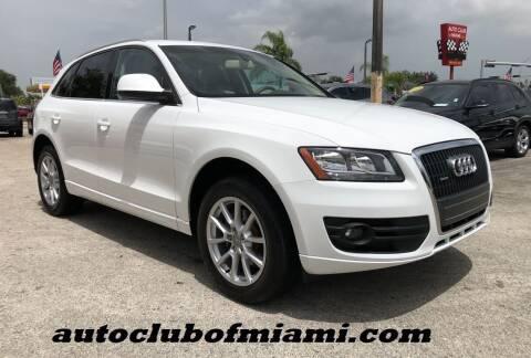 2011 Audi Q5 for sale at AUTO CLUB OF MIAMI, INC in Miami FL