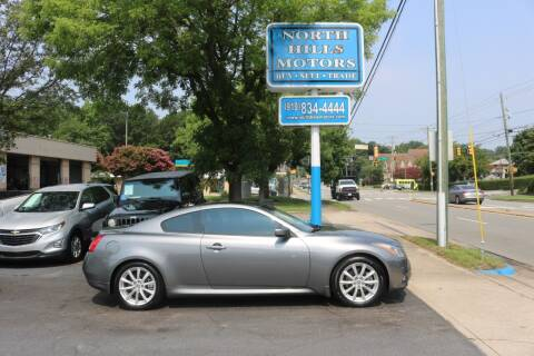 2013 Infiniti G37 Coupe for sale at North Hills Motors in Raleigh NC