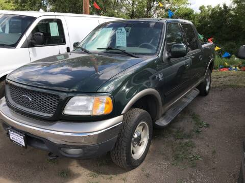 2001 Ford F-150 for sale at BARNES AUTO SALES in Mandan ND