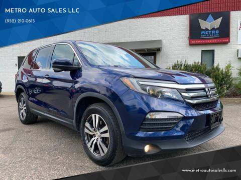 2016 Honda Pilot for sale at METRO AUTO SALES LLC in Blaine MN