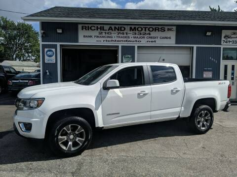 2017 Chevrolet Colorado for sale at Richland Motors in Cleveland OH