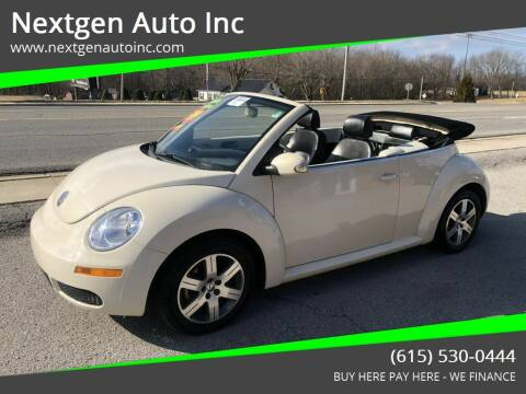 2006 Volkswagen New Beetle Convertible for sale at Nextgen Auto Inc in Smithville TN