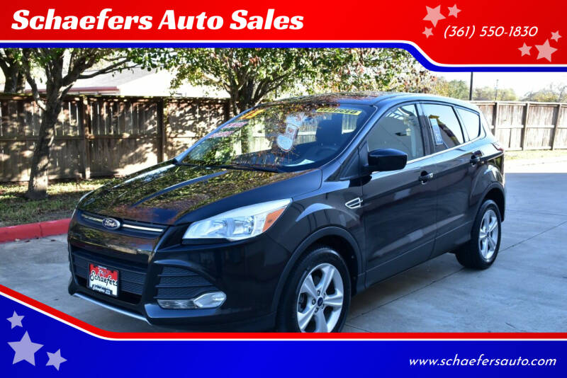 2013 Ford Escape for sale at Schaefers Auto Sales in Victoria TX