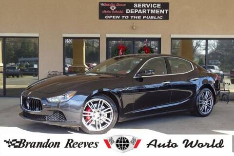 2017 Maserati Ghibli for sale at Brandon Reeves Auto World in Monroe NC