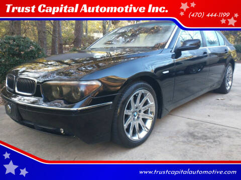 2005 BMW 7 Series for sale at Trust Capital Automotive Inc. in Covington GA