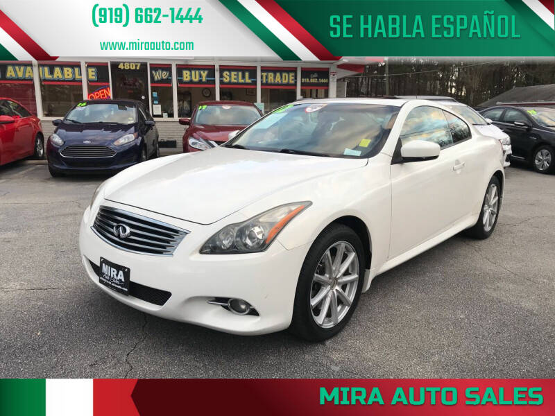 2012 Infiniti G37 Coupe for sale at Mira Auto Sales in Raleigh NC