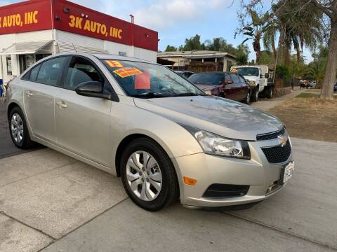 2013 Chevrolet Cruze for sale at 3K Auto in Escondido CA