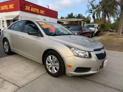 2013 Chevrolet Cruze for sale at 3K Auto in Escondido CA