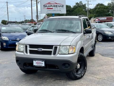 2004 Ford Explorer Sport Trac for sale at Supreme Auto Sales in Chesapeake VA