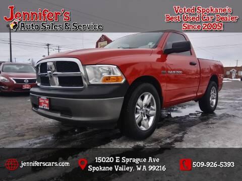 2011 RAM Ram Pickup 1500 for sale at Jennifer's Auto Sales in Spokane Valley WA