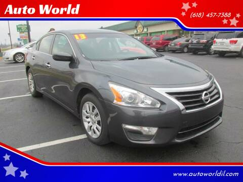 2013 Nissan Altima for sale at Auto World in Carbondale IL
