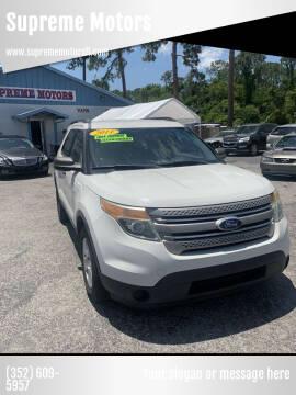 2011 Ford Explorer for sale at Supreme Motors in Tavares FL