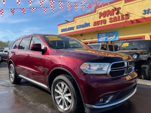 2017 Dodge Durango for sale at Popas Auto Sales in Detroit MI