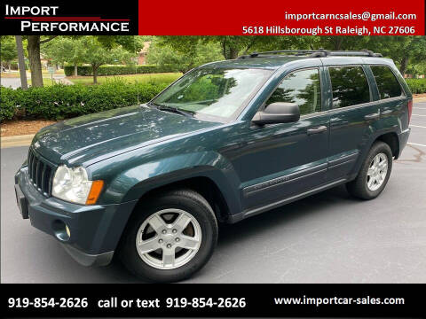 2005 Jeep Grand Cherokee for sale at Import Performance Sales in Raleigh NC