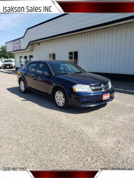 2013 Dodge Avenger for sale at Isakson Sales INC in Waite Park MN