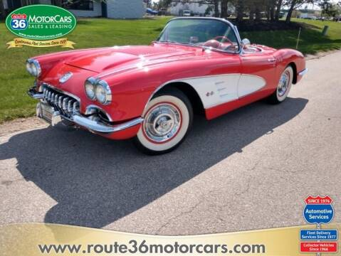 1958 Chevrolet Corvette for sale at ROUTE 36 MOTORCARS in Dublin OH