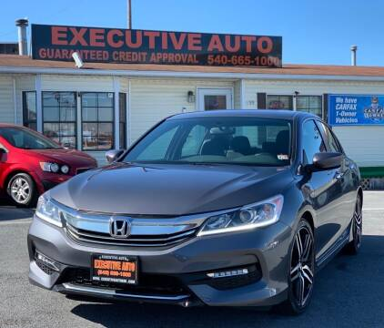 2016 Honda Accord for sale at Executive Auto in Winchester VA