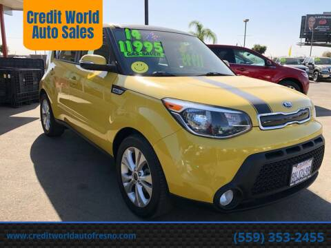 2014 Kia Soul for sale at Credit World Auto Sales in Fresno CA