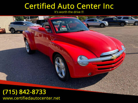 2004 Chevrolet SSR for sale at Certified Auto Center Inc in Wausau WI