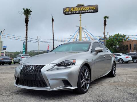 2015 Lexus IS 250 for sale at A MOTORS SALES AND FINANCE - 5630 San Pedro Ave in San Antonio TX