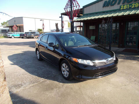 2012 Honda Civic for sale at MOTION TREND AUTO SALES in Tomball TX