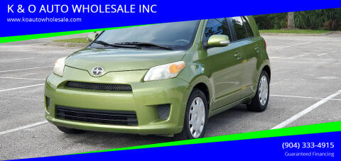 2009 Scion xD for sale at K & O AUTO WHOLESALE INC in Jacksonville FL