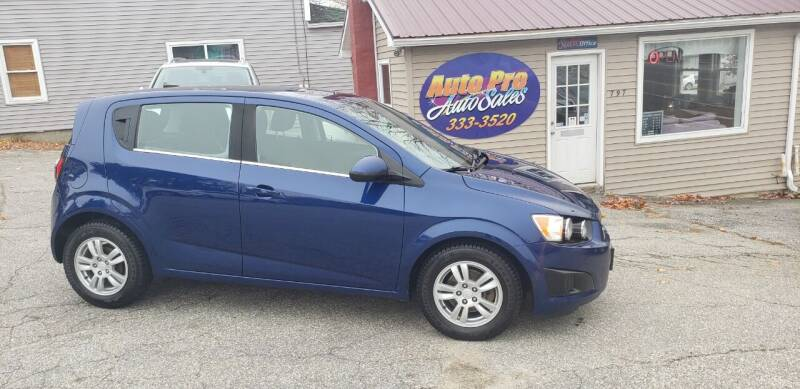 2014 Chevrolet Sonic for sale at Auto Pro Auto Sales-797 Sabattus St. in Lewiston ME