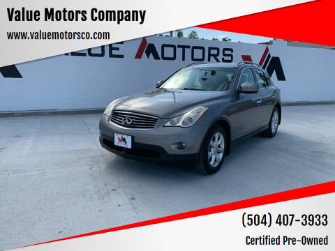 2010 Infiniti EX35 for sale at Value Motors Company in Marrero LA