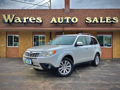 2010 Subaru Forester for sale at Wares Auto Sales INC in Traverse City MI